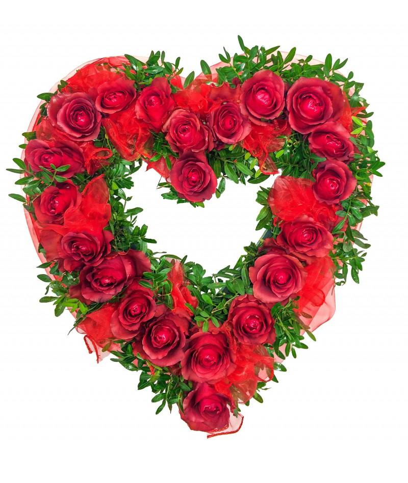 Červenobílé srdce