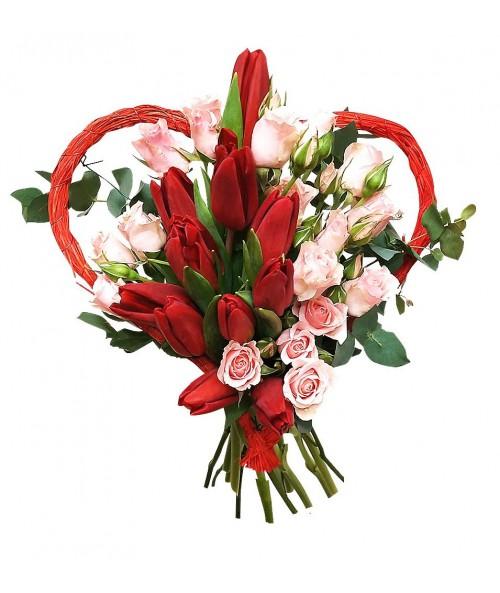 Valentynske tulipany