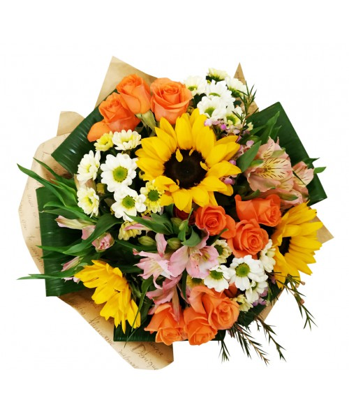 bouquet-sunflowers-delivery-brno