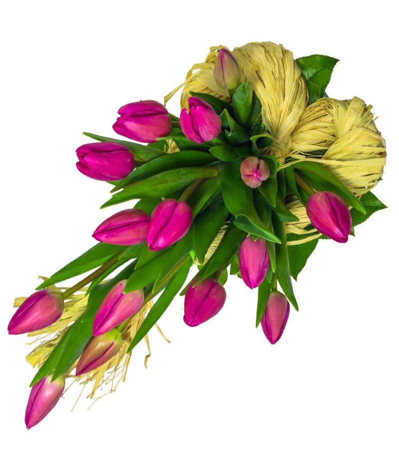 Srdíčko z tulipánů