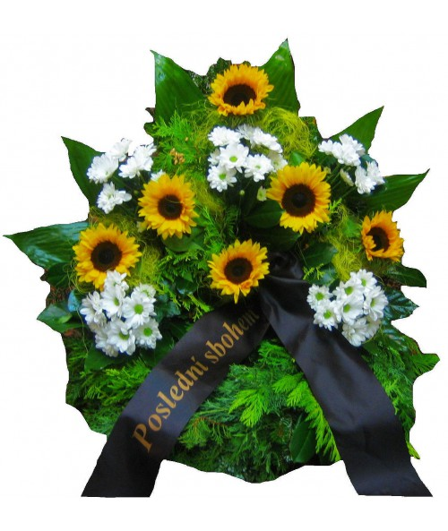funeral-wreath-sunflowers