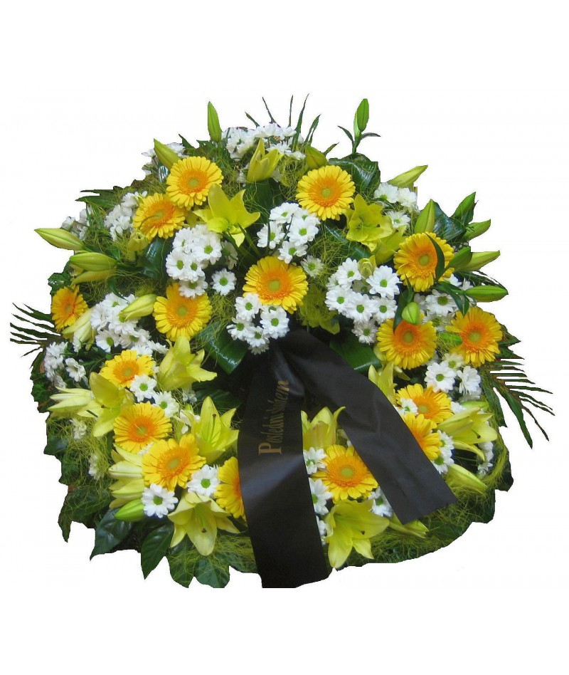 funeral-wreath-brno-yellow