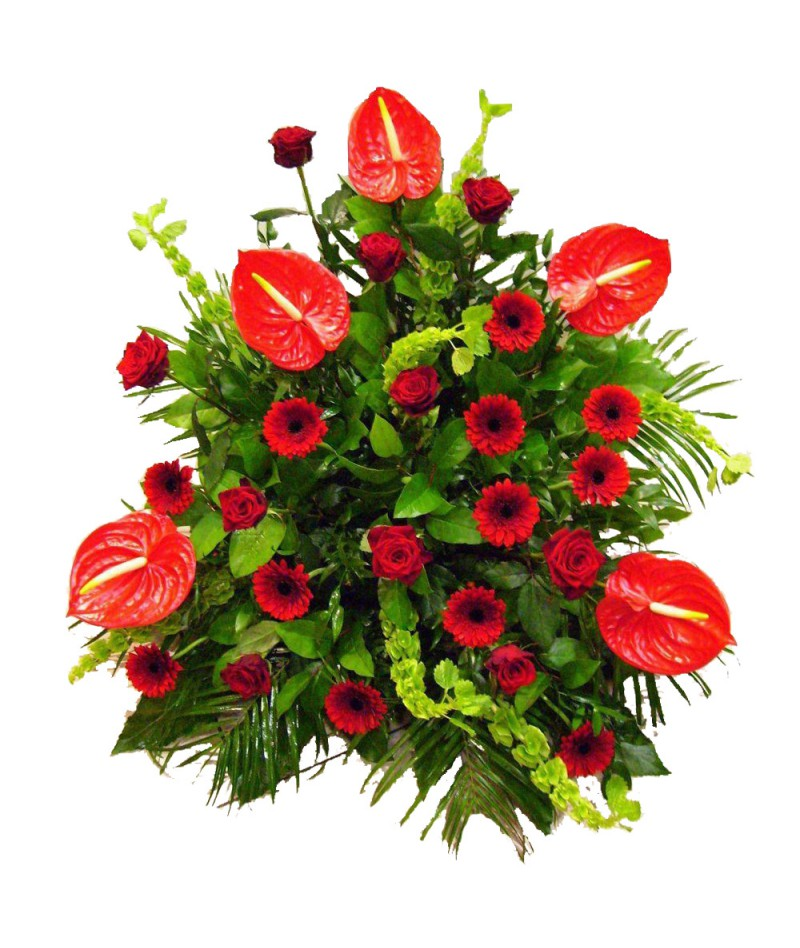 funeral-bouquet-red-anthuriums