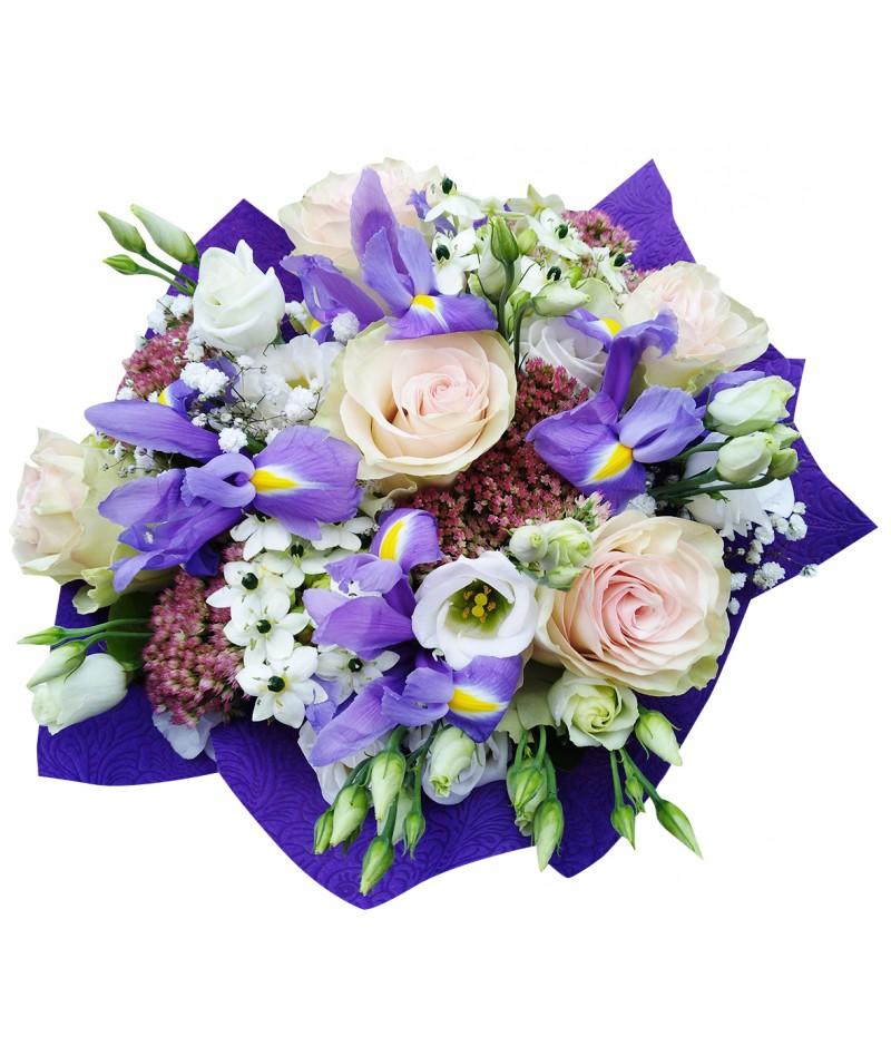Irisy a slunečnice