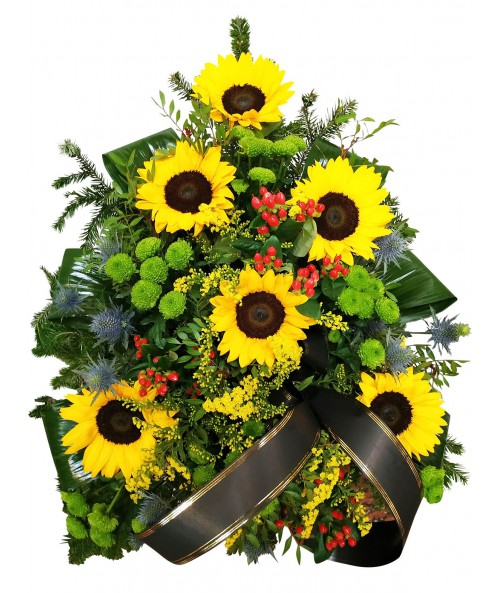 funeral-bouquet-sunflowers-brno