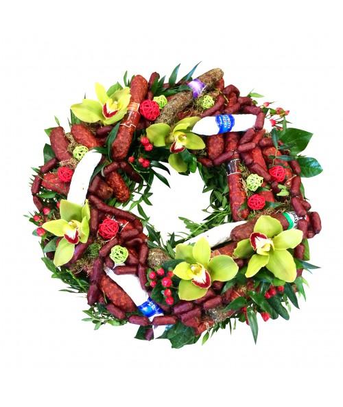 sausage-wreath-delivery-brno