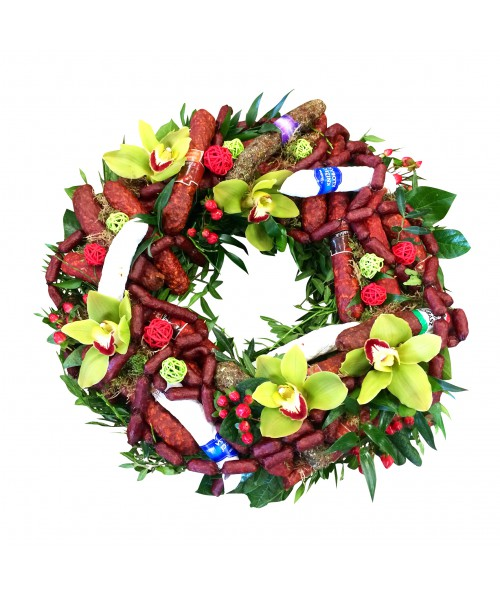 Sausage wreath