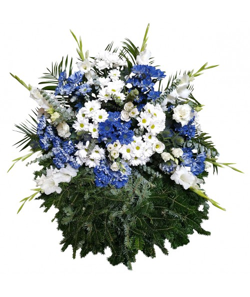 Blue-white wreath