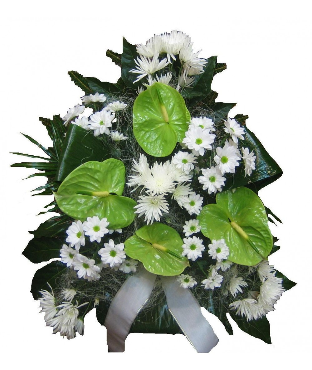 Appropriate funeral flowers kvtiny v special funeral arrangements flowers designed in the shapes of hearts and crosses izmirmasajfo